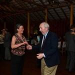 antar de Confraternização: Casal David Green e esposa