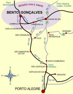 DISTÂNCIAS - CAPITAIS (passando por Porto Alegre)