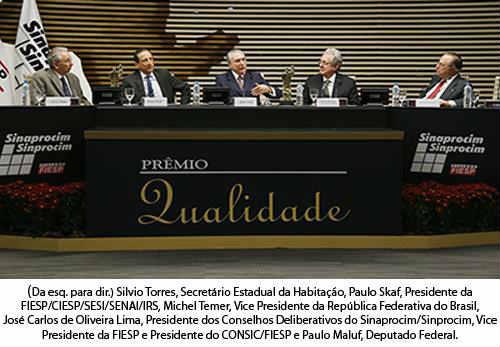 SINAPROCIM e SINPROCIM apresentam os vencedores do Prêmio Qualidade 2013