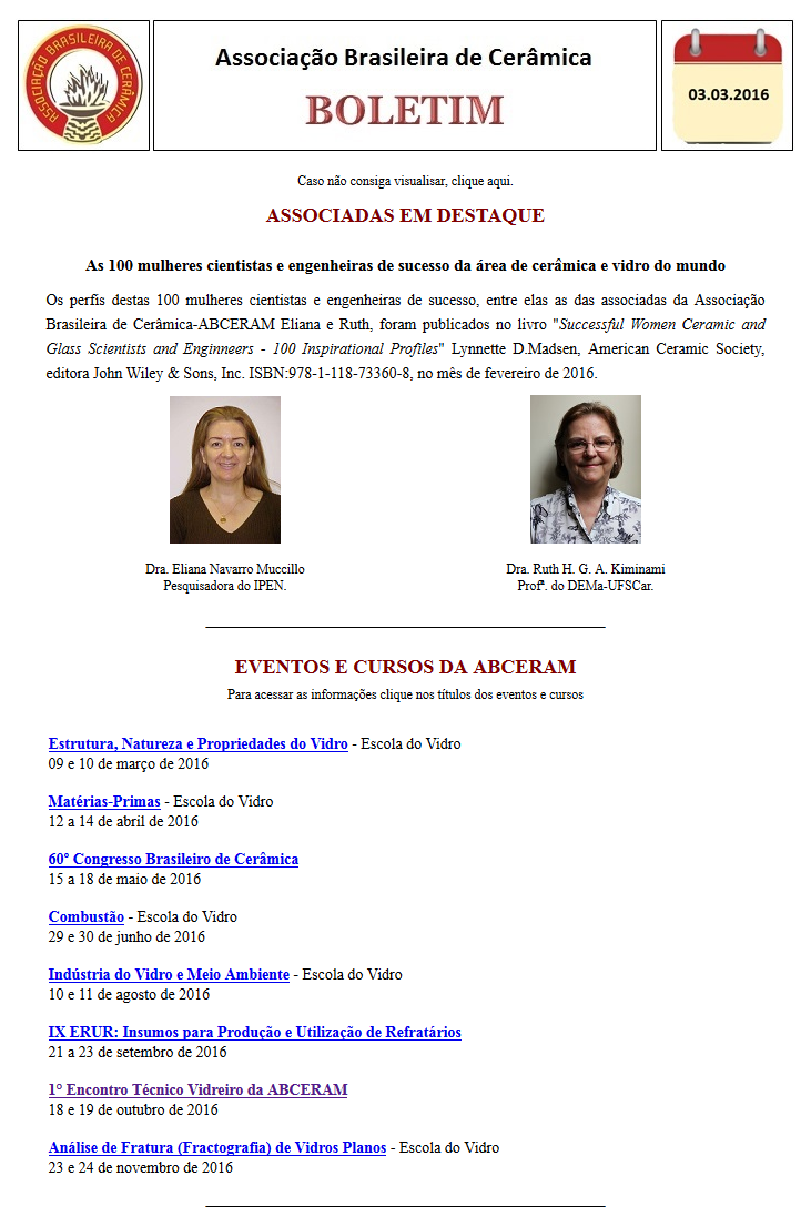 Boletim Eletrônico 03/03/2016