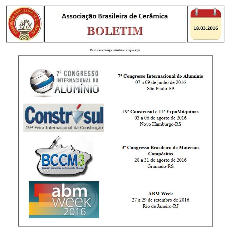 Boletim Eletrônico 18/03/2016