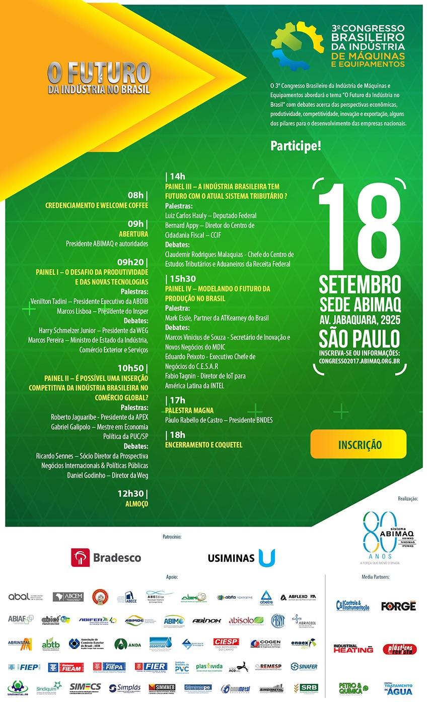 3º Congresso Brasileiro da Indústria de Máquinas e Equipamentos